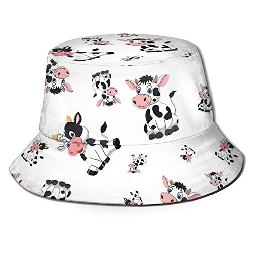 Felice Pasqua cartone animato mucche Mens Womens tendenze moda secchio cappello