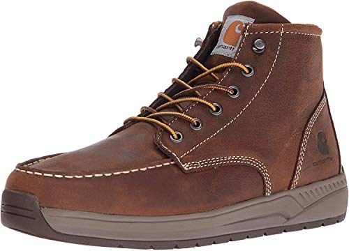 Carhartt mens Cmx4023 Lightweight Casual Wedge, 4' Soft Moc Toe Brown-, 9.5 Wide US