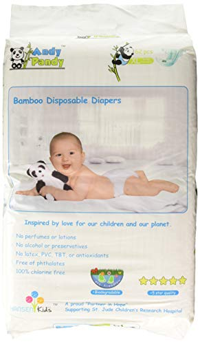 Our #4 Pick is the Andy Pandy Disposable Bamboo Diapers