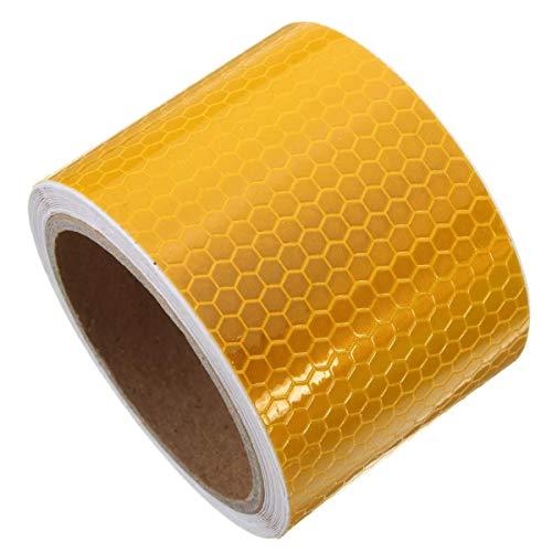 PIKA PIKA QIO Sicherheit Vorsicht Reflective Klebeband Warnband Aufkleber Klebeband 6 Farben 3m lang Verpackungs Band (Farbe : Orange)