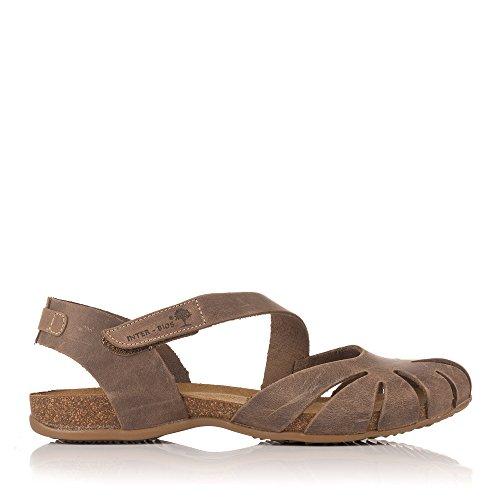 INTER-BIOS 4456 Sandalia Piel Velcro Bio Mujer Tostado 39