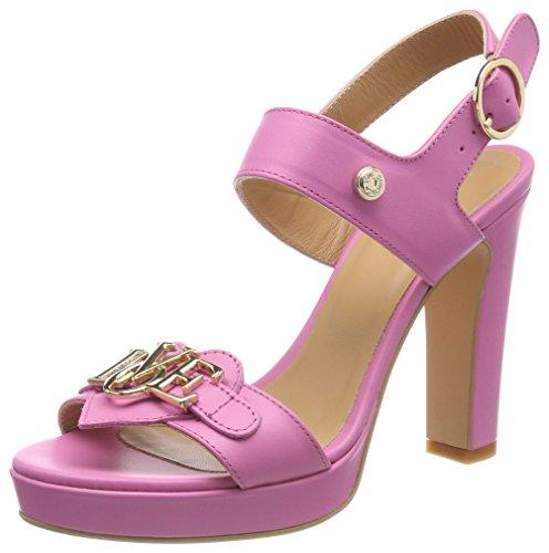 Love Moschino San.lod.lb12/105 Vitello Rosa, Sandales Bride arrière Femme, Rose (Pink), 40 EU
