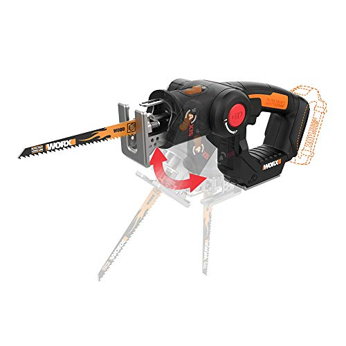 Worx WX550L.9 20V Power Share Axis Cordless Reciprocating & Jig Saw (Tool Only)