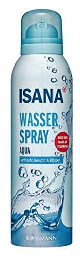 ISANA Wasserspray Aqua, erfrischt Gesicht & Körper, auch zur Make-up Fixierung, 150 ml