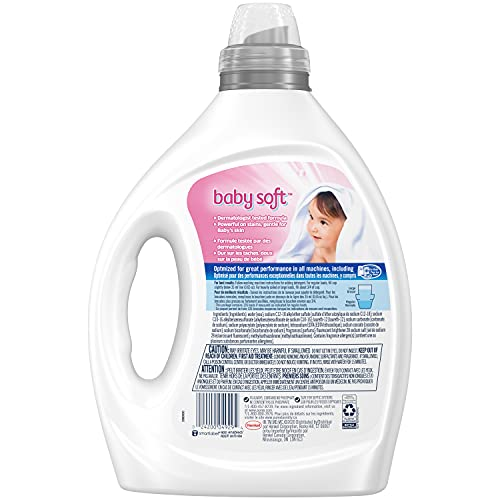 Purex Liquid Laundry Detergent, Baby Soft, Hypoallergenic, 2X Concentrated, 2 Pack, 220 Total Loads
