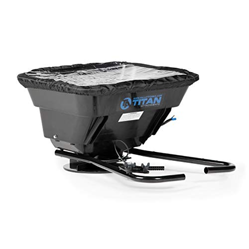 Titan Attachments 12 Volt ATV/UTV Broadcast Spreader, 80 LB Capacity, with Rain Cover