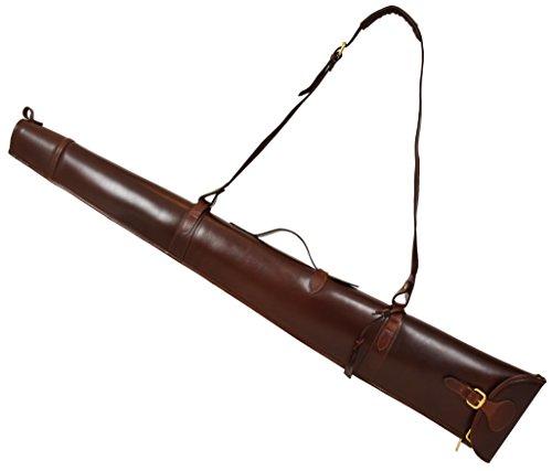 Real Leather Gun Slip for Shotgun Rifle Carry Case Bag with Handle Carlisle Brown