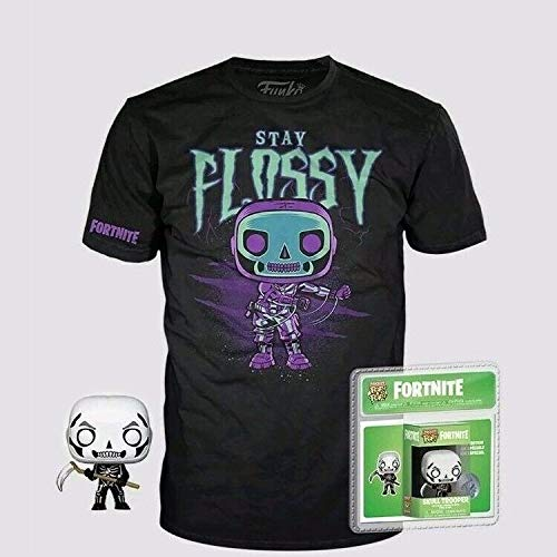 Funko Pocket Pop! & T-Shirt Fortnite Skull Trooper - Size M (PS4/Xbox One)