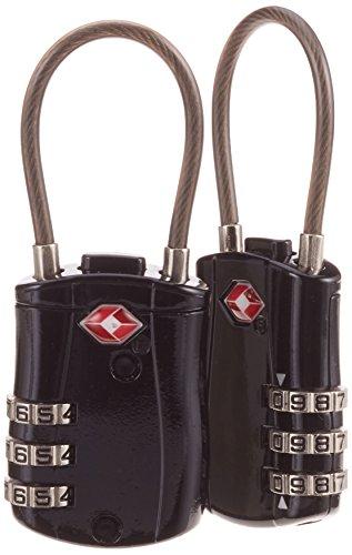 KH Security Kofferschloss 2er Set Gepäckschloss, Schwarz/Silber