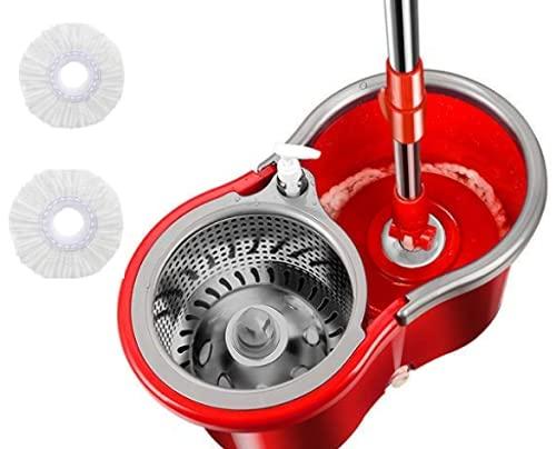 Magic Spin mop 360° Trapeador Giratorio con Balde De acero Con Repuesto