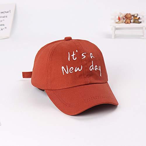 Neue baseballmütze Kappe Outdoor Sonnenschirm Kind Hut Baby Sonnenhut männliche und weibliche Kinder Flut Kappe Kaffee Farbe 50-52 cm geeignet