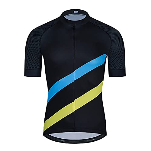LSZ Jersey De Ciclismo para Hombre, Camisetas De Ciclismo De Manga Corta, Camiseta De Bicicleta De Montaña Transpirable De Secado Rápido, Ropa De Bicicleta De Carreras (Color : F, Talla : XXX-Large)