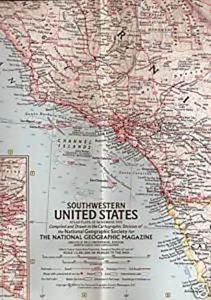 Southwestern United States (National Geographic Map, Atlas Plate 12 ...
