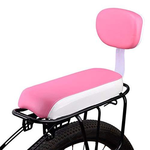 Piore Rugleuning Ergonomisch Fietsstoeltje Achter Draagkussen Kinder Mountainbike Pad Comfortabel Antislip Kid Cycling, Roze