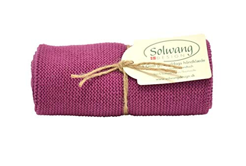 Solwang Handtuch gestrickt in Pflaume, Küchentuch aus Baumwolle