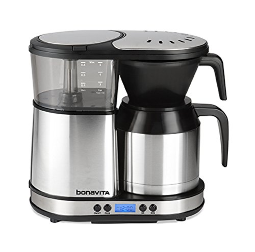 Bonavita 5-Cup One-Touch Coffee Maker Featuring Programmable Setting and Thermal Carafe, BV1500TD