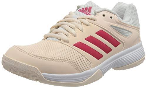 adidas Speedcourt, Handball Shoe Mujer, Pink Tint/Footwear White/Power Pink, 38 2/3 EU