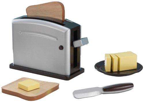 KidKraft 63317 - Espressofarbenes Toaster-Set