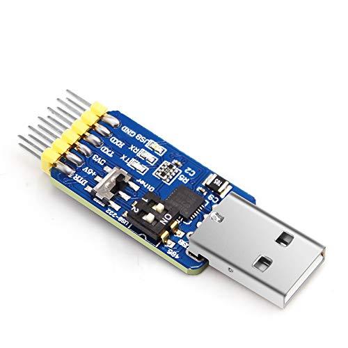 6-in-1 Convertitore USB-UART multifunzione ( USB-TTL USB-RS485 USB-RS232 TTL-RS232 TTL-RS485 RS232-RS485 ) USB a TTL/232/485 Adattatore seriale con Modulo CP2102 Compatibile Windows 7,8, Linux,Arduino