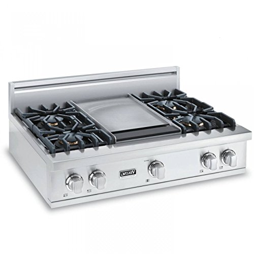 Viking VRT5364GSS 5 Series 36 Inch Gas Sealed Burner Cooktop