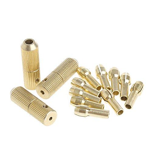 CADANIA 3+10Stuks 0.5-3.2mm Micro Twist Hand Boor Kit Chuck Elektrische Boor Bit Collet