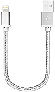 LAX Gadgets lghtcblmfi1ft-slv iPhone Lightning Cable Charger, Silver, 1 Foot