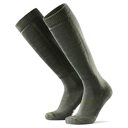 DANISH ENDURANCE Calcetines Térmicos de Esquí de Lana Merino 1 Par (Verde Oliva, EU 39-42)