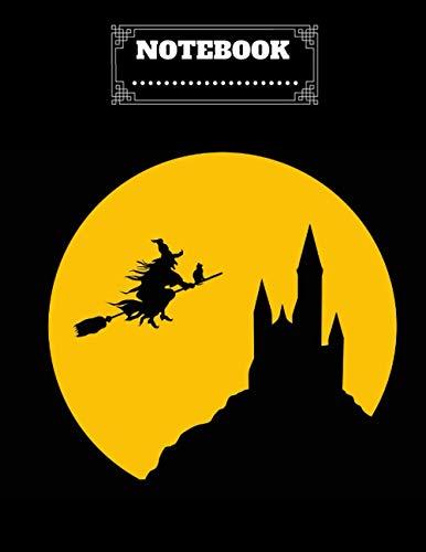 "Halloween Notebook: Notebook and Journal - Happy Halloween - Halloween Gift black cover - 8.5""x11""in - 120p"