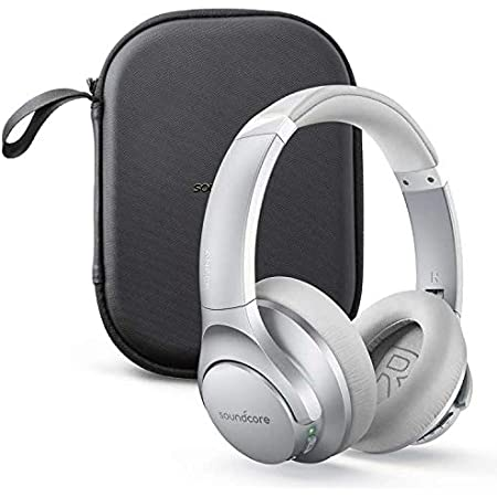 Anker Soundcore Life Q20 Bluetooth Headphones with Travel Case, Hybrid Active Noise Cancelling, 40H Playtime, Hi-Res Audio, Deep Bass, Wireless Over Ear Headphones for Travel, Work