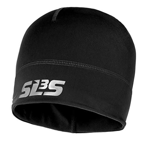 Running Hat - Cold Weather Runners Beanie Reflective - Jogging Hats Thin -SLS3 (Black)