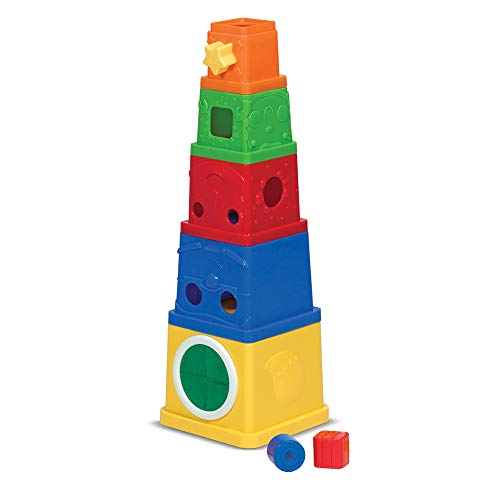 Melissa & Doug K's Kids Stacking Blocks Set With Sorting Shapes