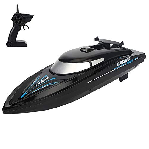 Izzya Remote Control Boats Rc Self Righting Racing Boats 20Min Flight Time 2.4Ghz High Speed Remote Control Boat Toys for Kids Or Adults,Black