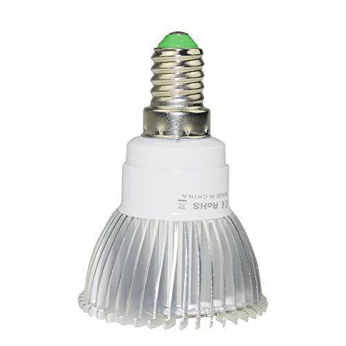 Singeru Pflanzenlampe E27 E14 GU10 LED 18W Pflanzenleuchte Vollspektrum Pflanzenlicht Birne Led Grow Lamp für Gewächshaus Zimmerpflanzen, Blüte, Blumen und Gemüse (E14)