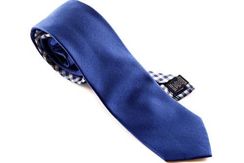 Tommy Hilfiger Herren Krawatte Schlips SILK RIBBED 7CM TIE (Azur-Blau, 418)