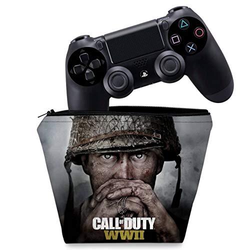 Capa PS4 Controle Case - Call of Duty WW2