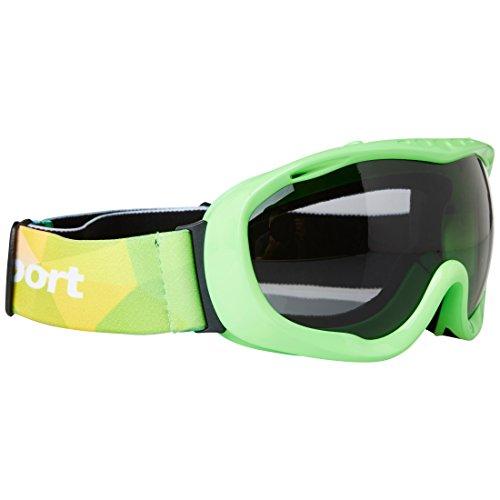 Ultrasport 331500000091 Gafas de esquí y Snowboard con Lente antivaho, Unisex Adulto, Verde/Gris, Talla Única