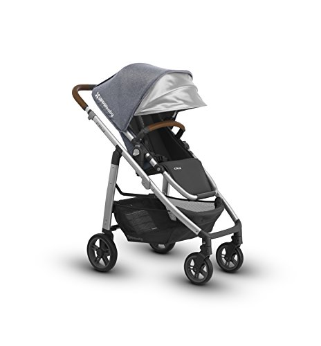 Great Deal! 2018 UPPAbaby Cruz Stroller- Gregory (Blue Melange/Silver/Saddle Leather)