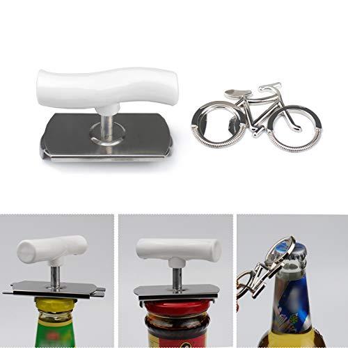 オープナー びんふた開け 栓抜き 缶切り ボトルオープナー キャップ 缶 瓶 びん オープナー (bicycle)