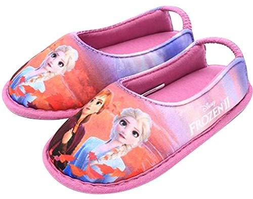 [ディズニー] アナと雪の女王2 Frozen 2 エルサ アナ 女の子 子供用 室内履き キッズ スリッパ ルームシューズ (15.0 cm, ピンクパープル) [並行輸入品]