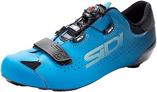 705452VAR - Zapatillas cicilismo bicicleta SIXTY COLOR NEGRO/AZUL TALLA 46