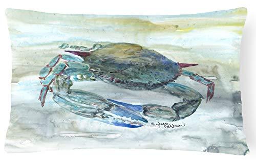 Caroline's Treasures SC2003PW1216 Blue Crab Watercolor Canvas Fabric Decorative Pillow, 12H x16W, Multicolor
