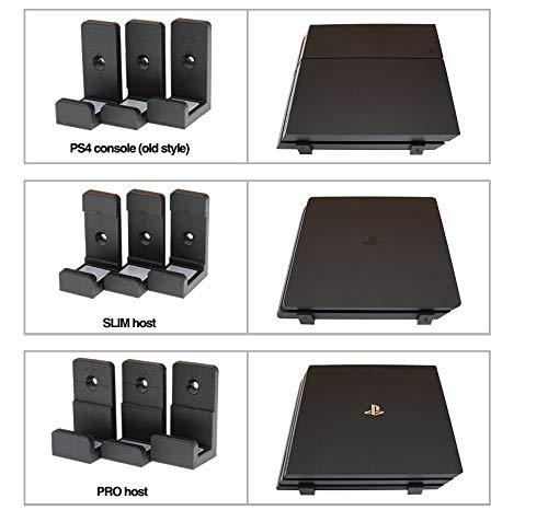 YYKJ Adecuado para los Accesorios del Juego PS4 Slim Pro, Que se Pueden Colgar Mediante Soportes Verticales/horizontales, ahorran Espacio y Son fáciles de Instalar (Negro/Blanco/Verde/Naranja)-ca
