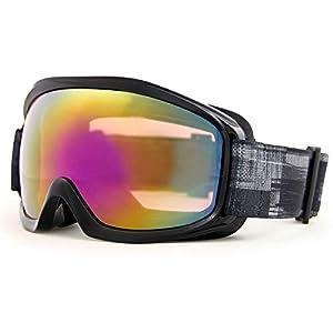 VAXPOT(バックスポット) ゴーグル スノーボード スキー メンズ 【ダブルレンズ UVカット くもり止め 球面レンズ 全天候】 VA-3615 BLK