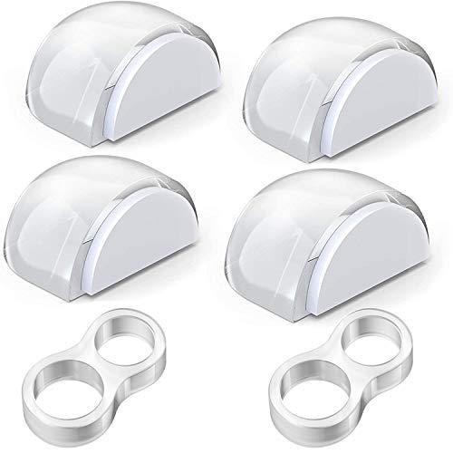 Aywne - Fermaporta trasparente, autoadesivo, resistente, di alta qualità, per proteggere i mobili da parete, adatto per tutte le superfici, 6 pezzi
