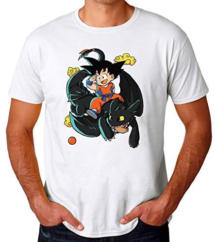 TeeWorld How To Train Your Dragon Ball Z Goku Funny Camiseta para Hombres XX-Large