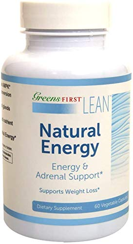 Greens First Lean™ Natural Energy Dietary Supplement –Energy and Adrenal Support Supplement – Dietary Supplements for Weight Loss – Nutritional Supplements – 60 Capsules