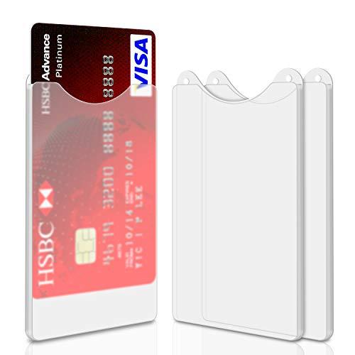 Foonii 20 Stück Hochwertig Kreditkartenhülle ,Hell Und Transparent, Stabiler Kunststoff,für Kreditkarte, Personalausweis, EC-Karte, Reisepass, Bankkarte