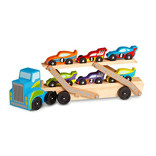 Melissa & Doug Mega Race-Car Carrier with 6 Cars  $15 at Amazon