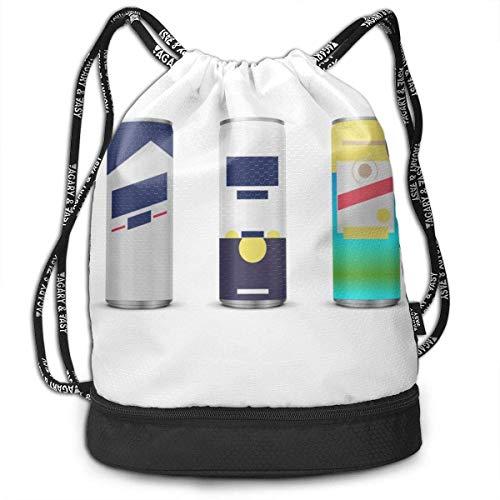 Rucksack mit Kordelzug Sommer Lieblings Busch Light Corona Shandy Hübsche Kordelzug Rucksack Tasche Mehrzweck Bundle Sack Pack Tanztasche