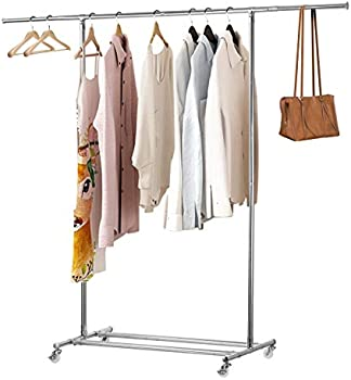 KINGSO Clothing Garment Rack with Wheels